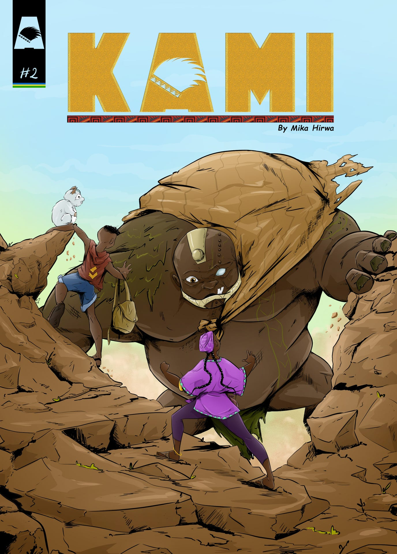 Kami Rwandan comic by Mika Hirwa. Nommo Awards 2020 nominee
