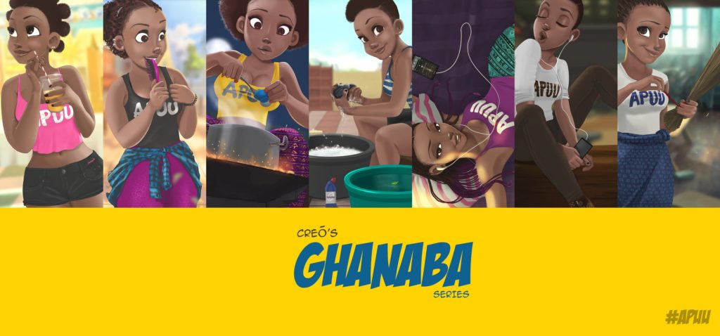 Ghanaba Day Name Illustration series by Nils Britwum for Creō Concepts