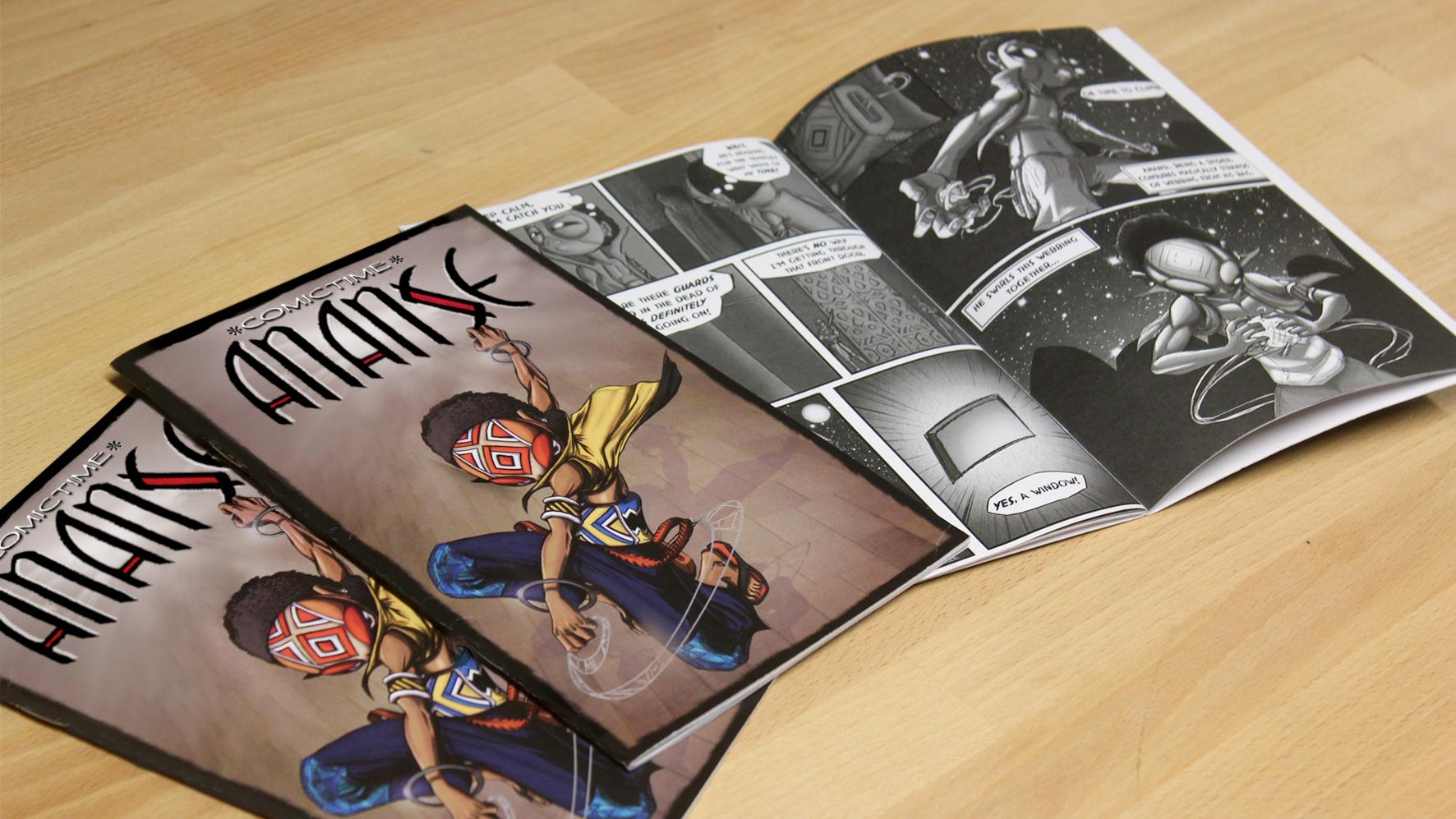 Ananse comic book by Kiaski Donkor