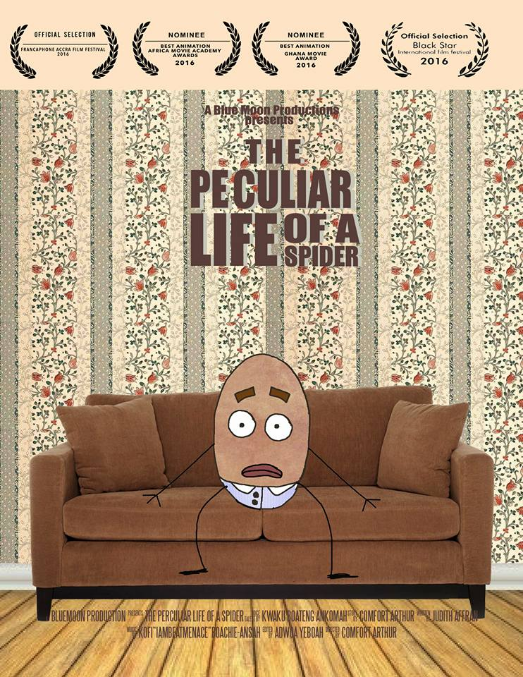 The Peculiar Life of a Spider by Comfort Arthur, example of Ghanaian animation.