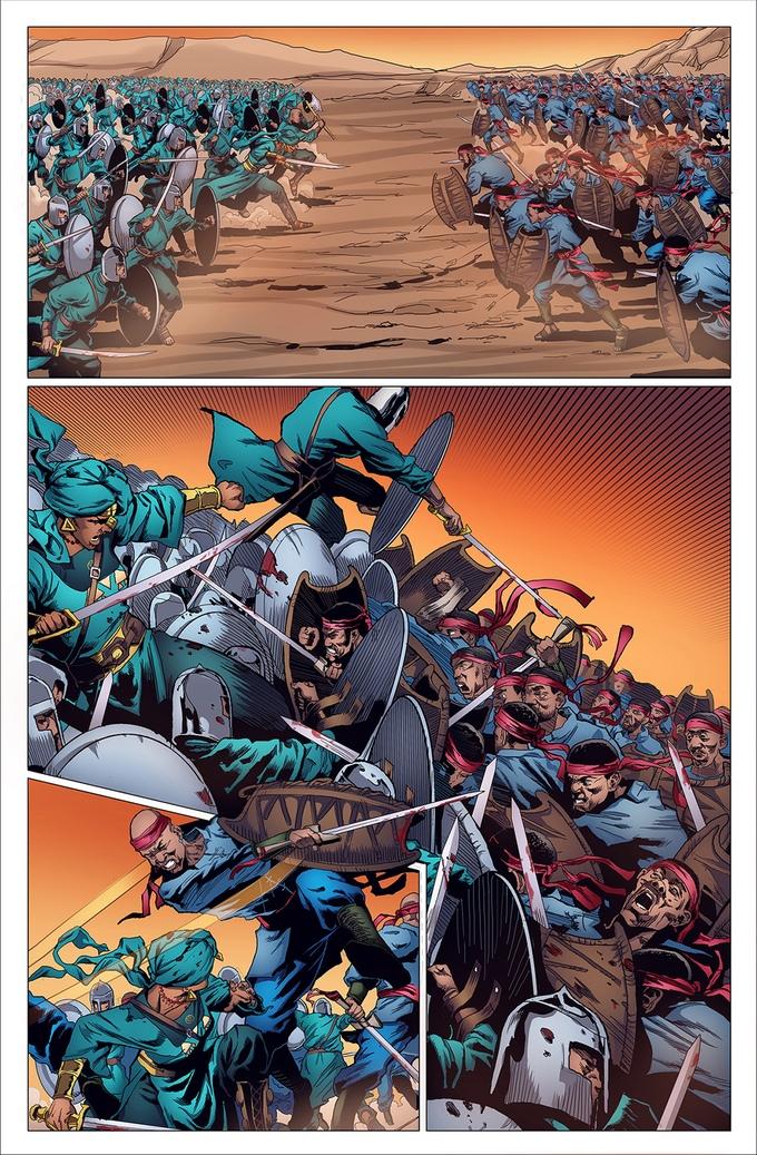 Enemies clash in Malika Warrior Queen