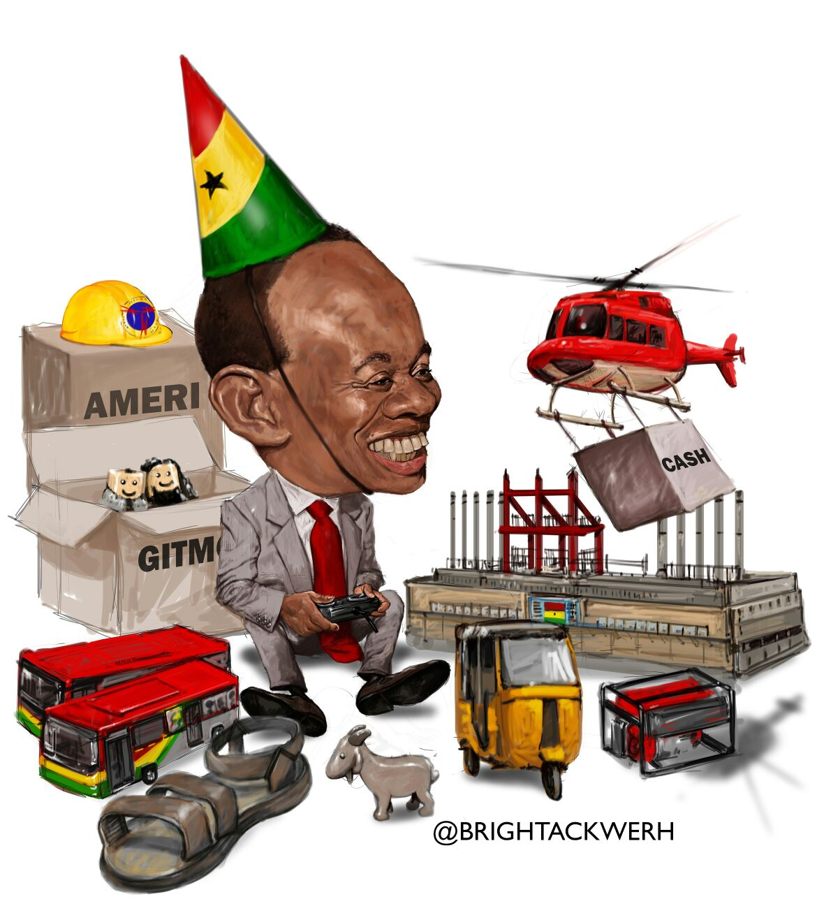 Ghana @ 59. Artwork showcasing Kwame Nkrumah with all his achievements for Ghana that have been sold to foreginers