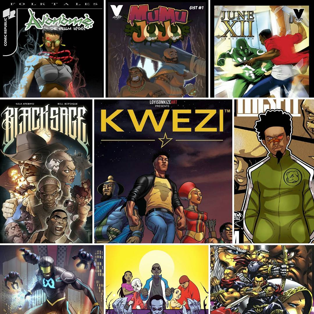 November is a Celebration of African Comic Covers