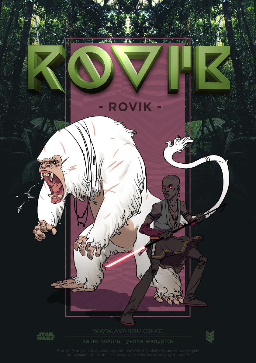 Rovik Cover illustrated by Salim Busuru - Avandu Core