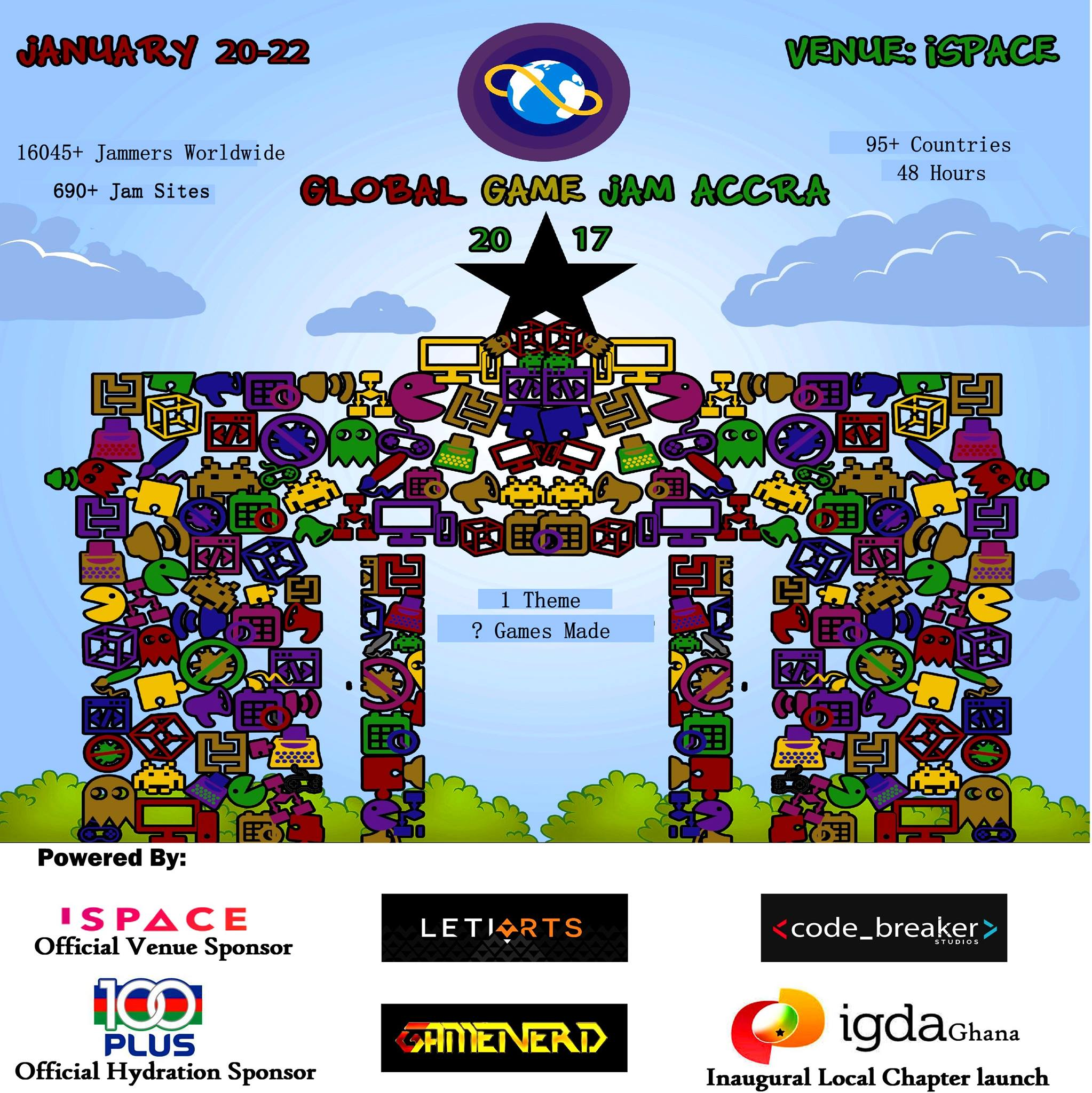 Get Your Game Face On – This Is Global Game Jam Accra 2017