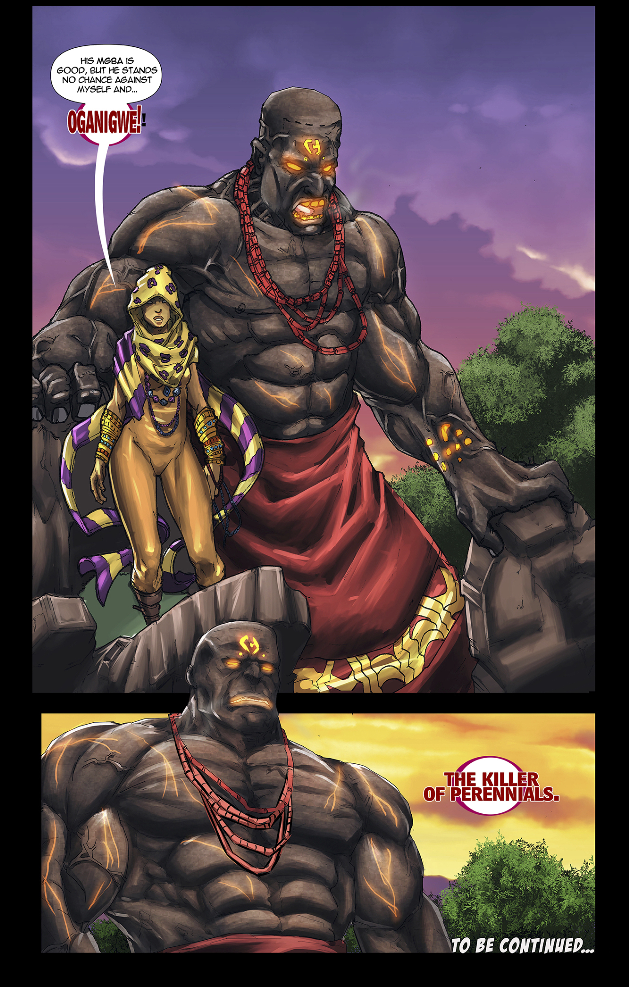 Oganigwe, Killer of Perennials in the African comic, Scion: Immortal
