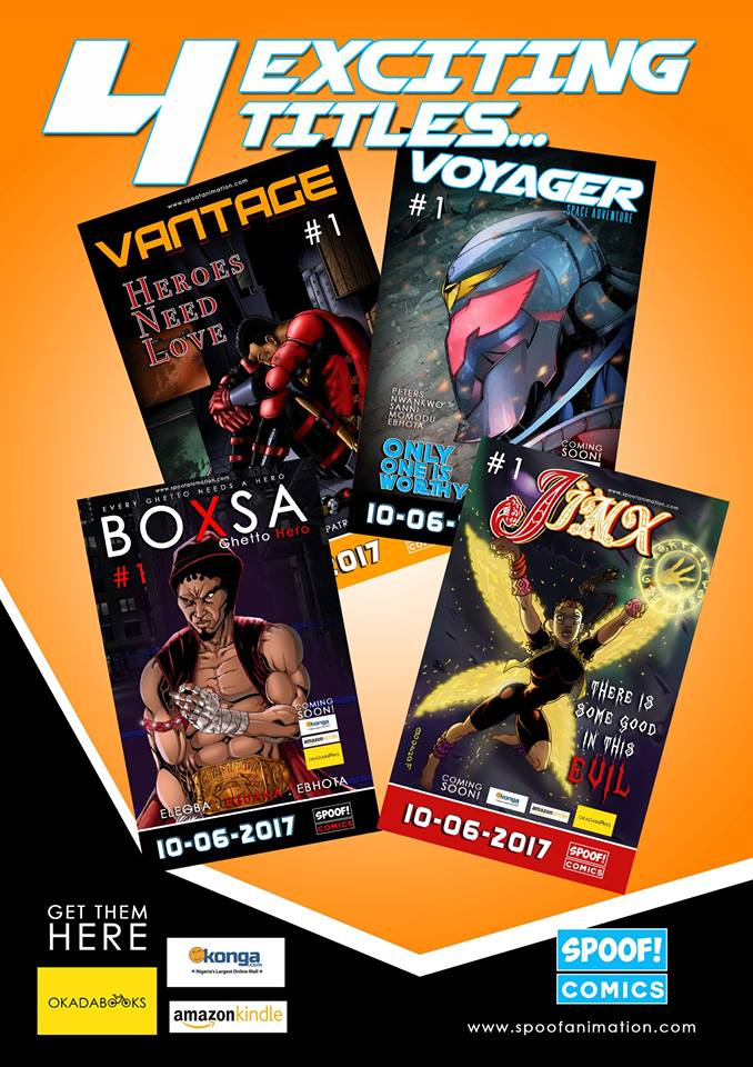 Four exciting titles from Spoof Comics