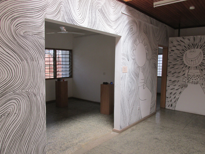 The Portrait Series , Adjo Kisser, 2014, drawing with charcoal, variable dimensions, installation view