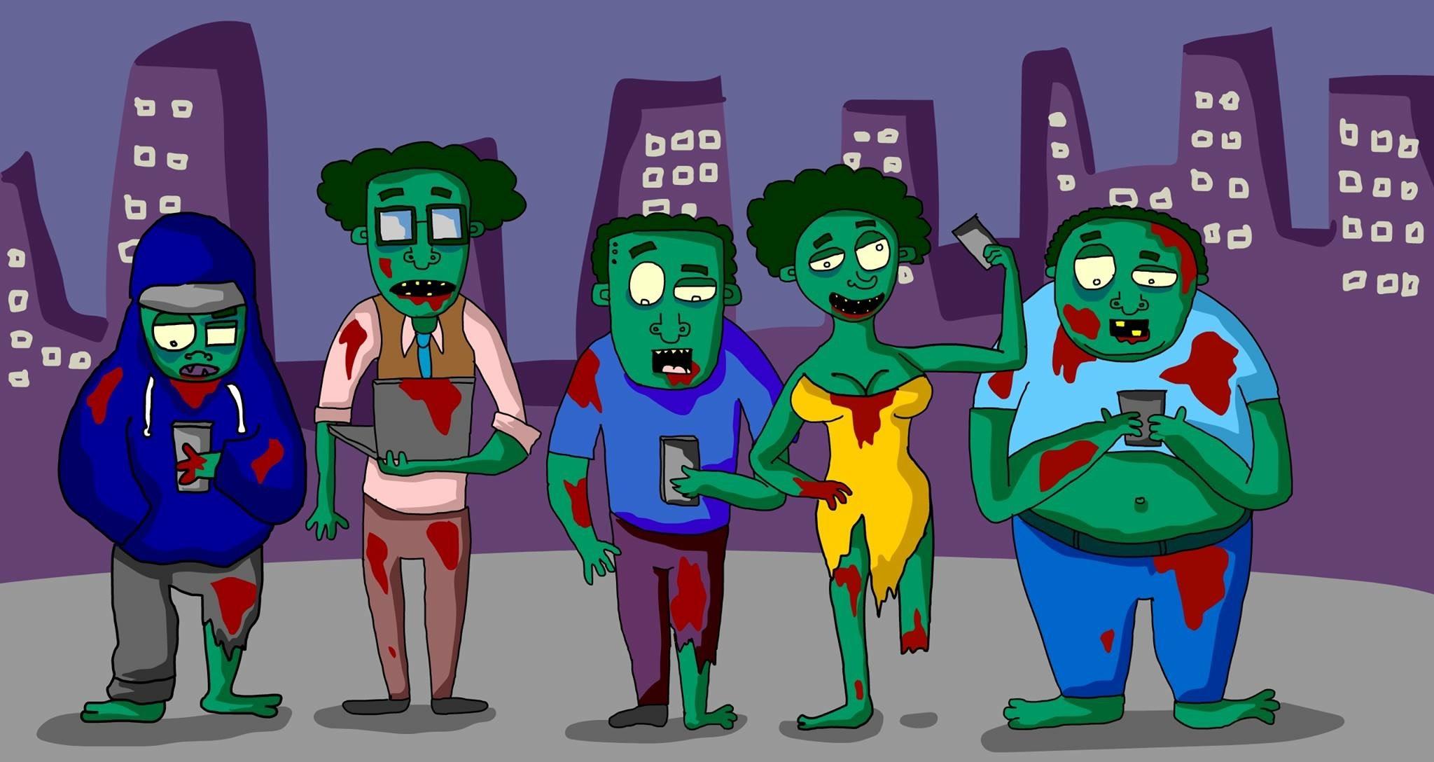 Social Media Zombies by Comfort Arthur