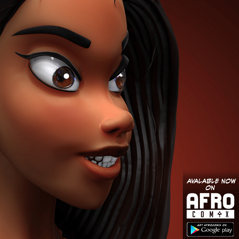 Afrocomix poster by Kwadwo Quaphryma Frimpong. Afrocomix is a digital distribution platform for African comics, digital art and animation.