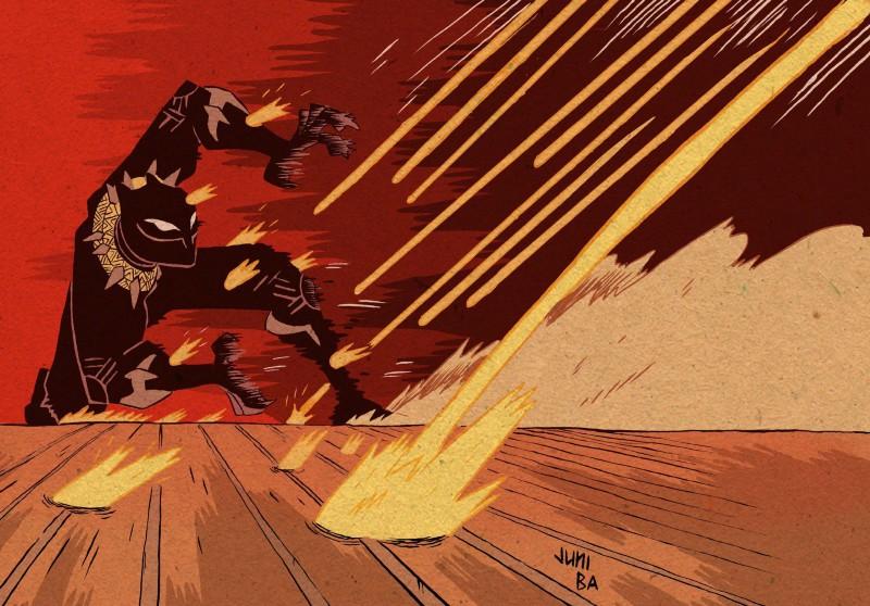 Black Panther illustration by Juni Ba