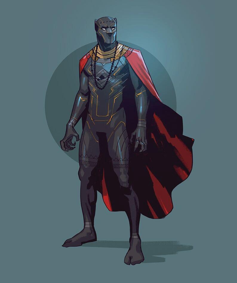 Salim Busuru black panther illustration