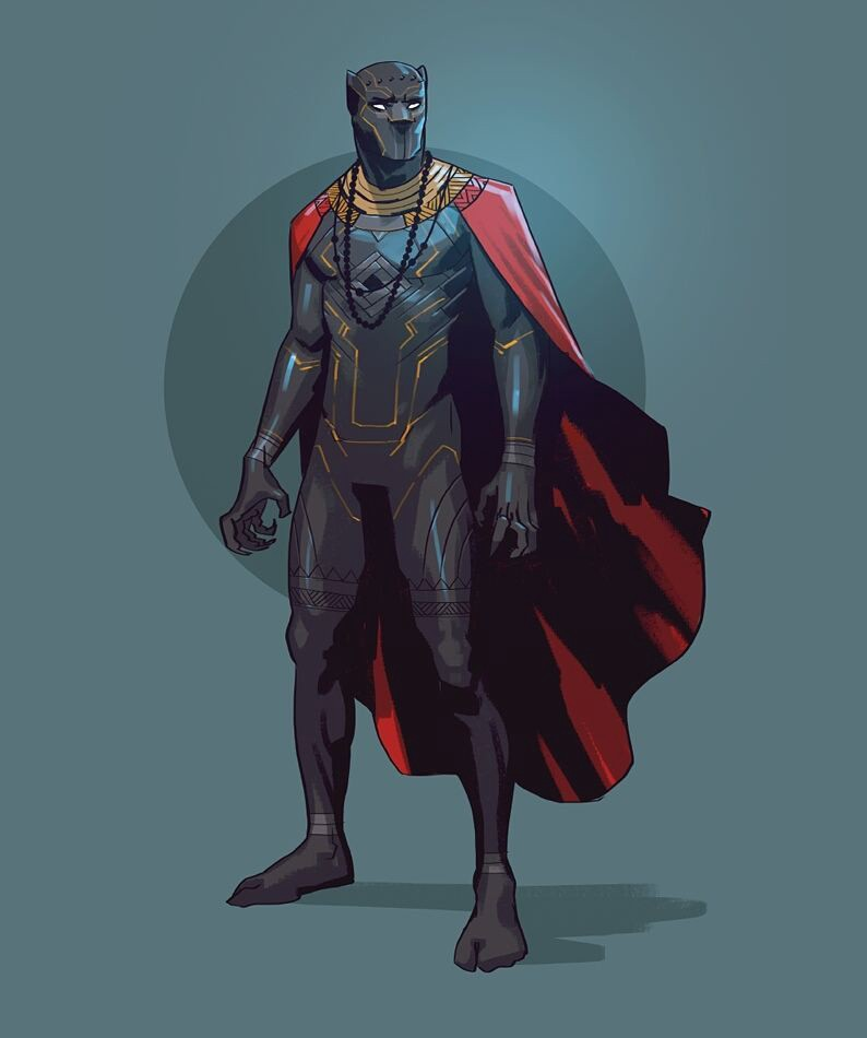 Salim Busuru black panther illustration