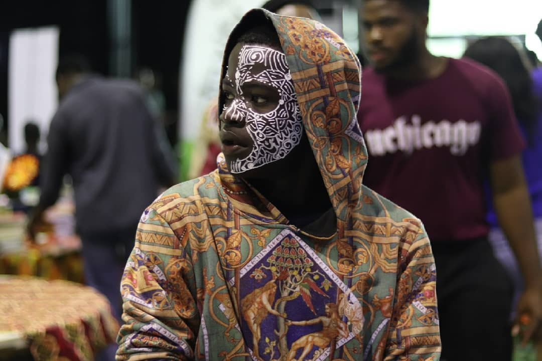 Face painting Lagos Comic Con 2018