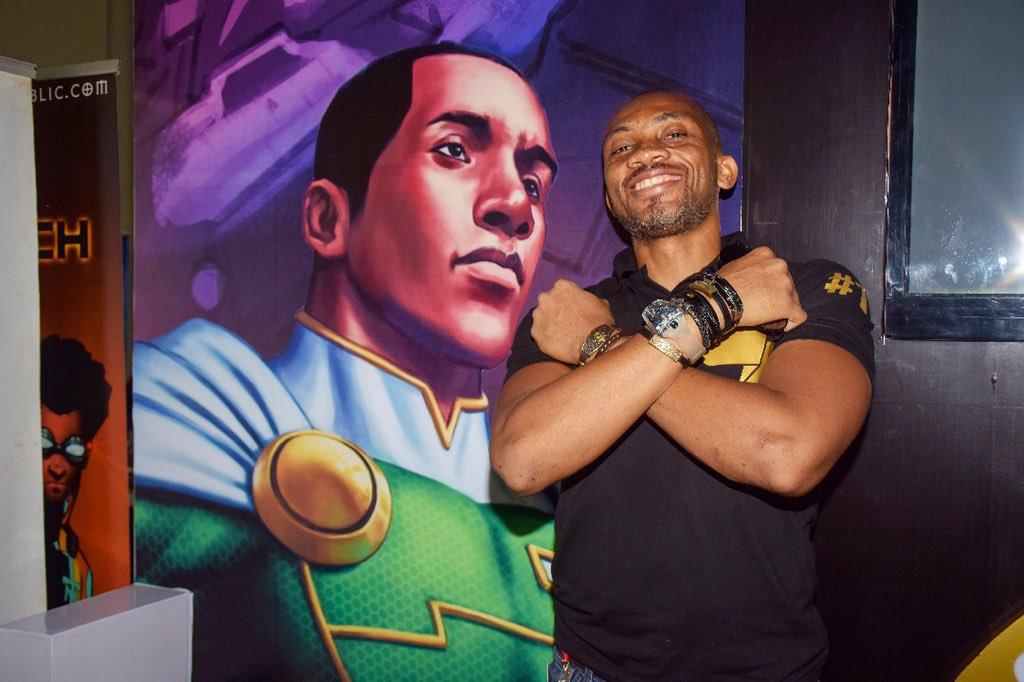 Jide Martins Comic Republic at Lagos Comic Con 2018