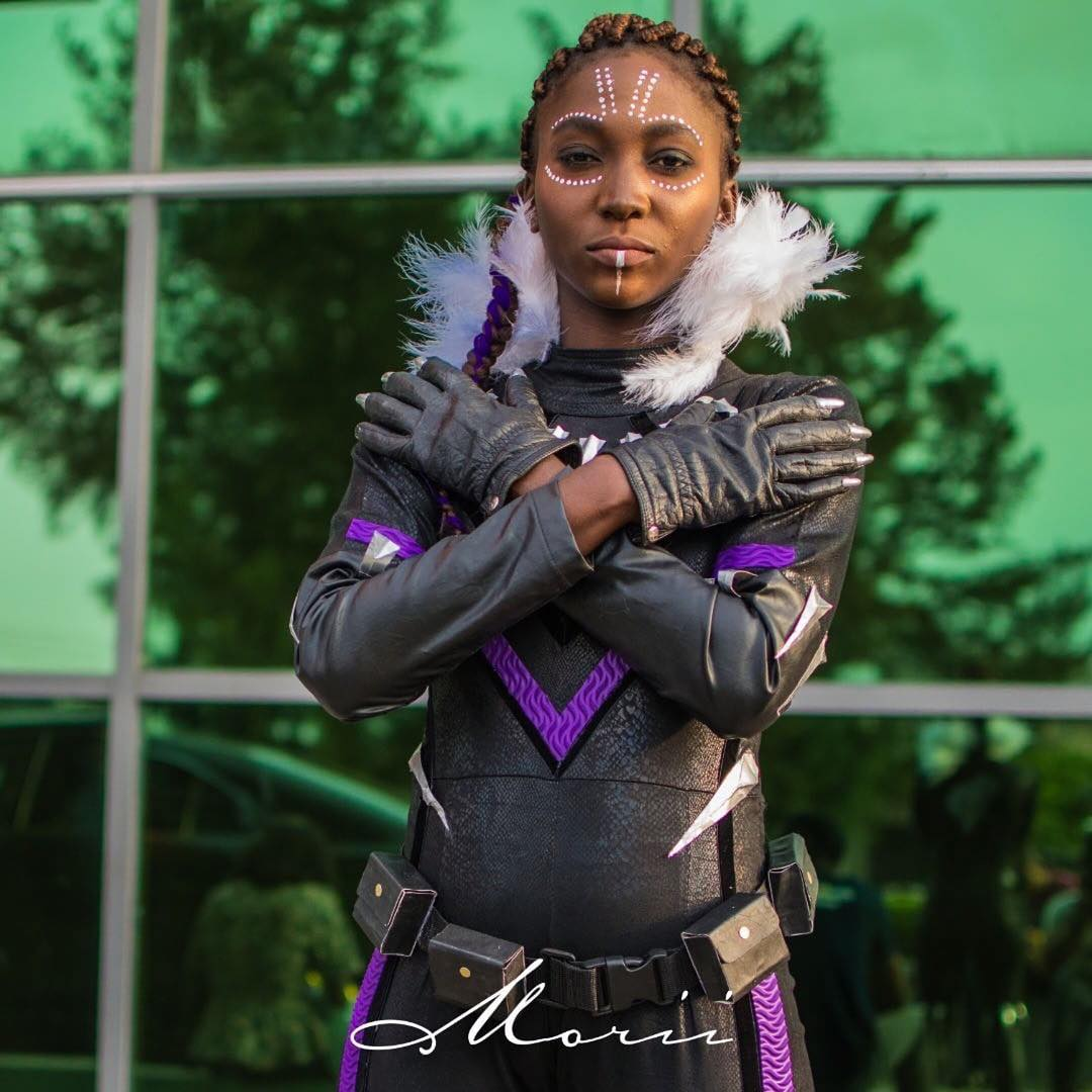 Princess Shuri cosplay at Lagos Comic Con 2018