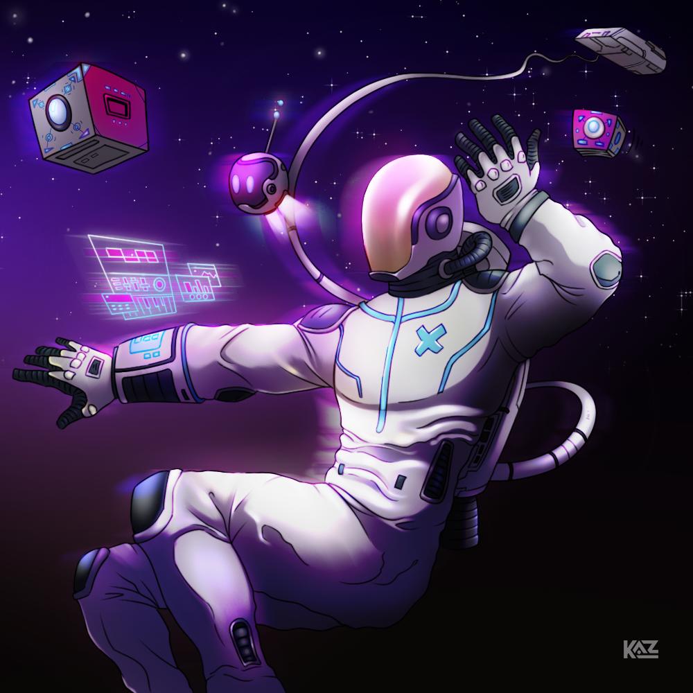 Spaceman XOE by Kaz