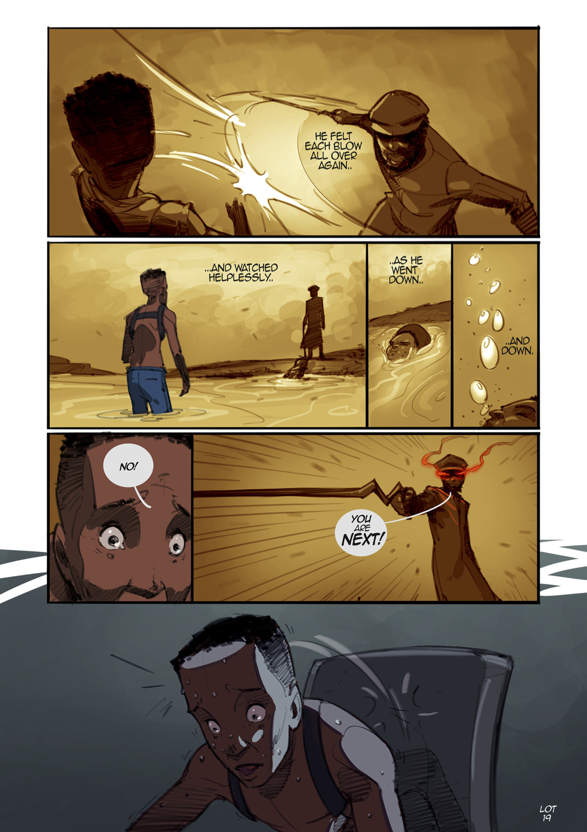 Page from Lake of Tears graphic novel