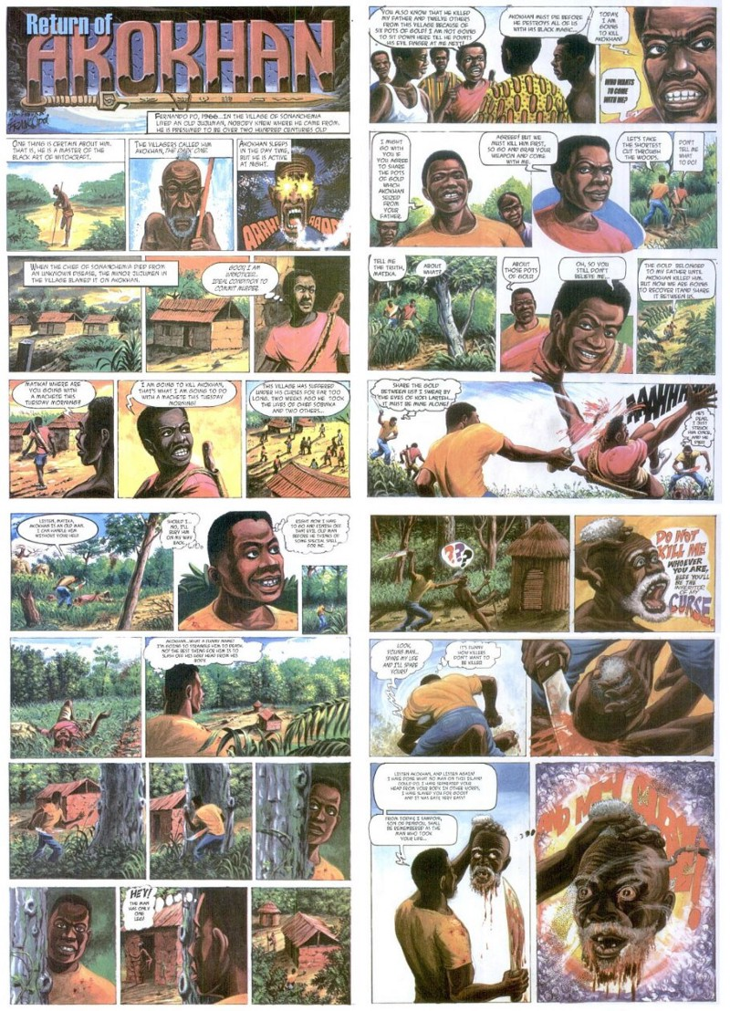 double page spread of akokhan by frank odoi
