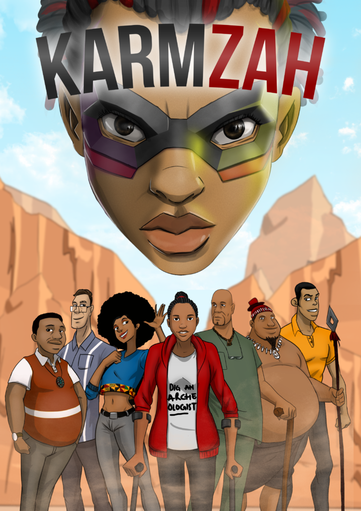 Karmzah comic book cover