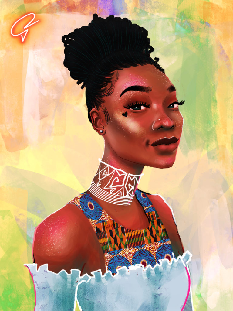 Self Portrait of Julia Shika Odamtten