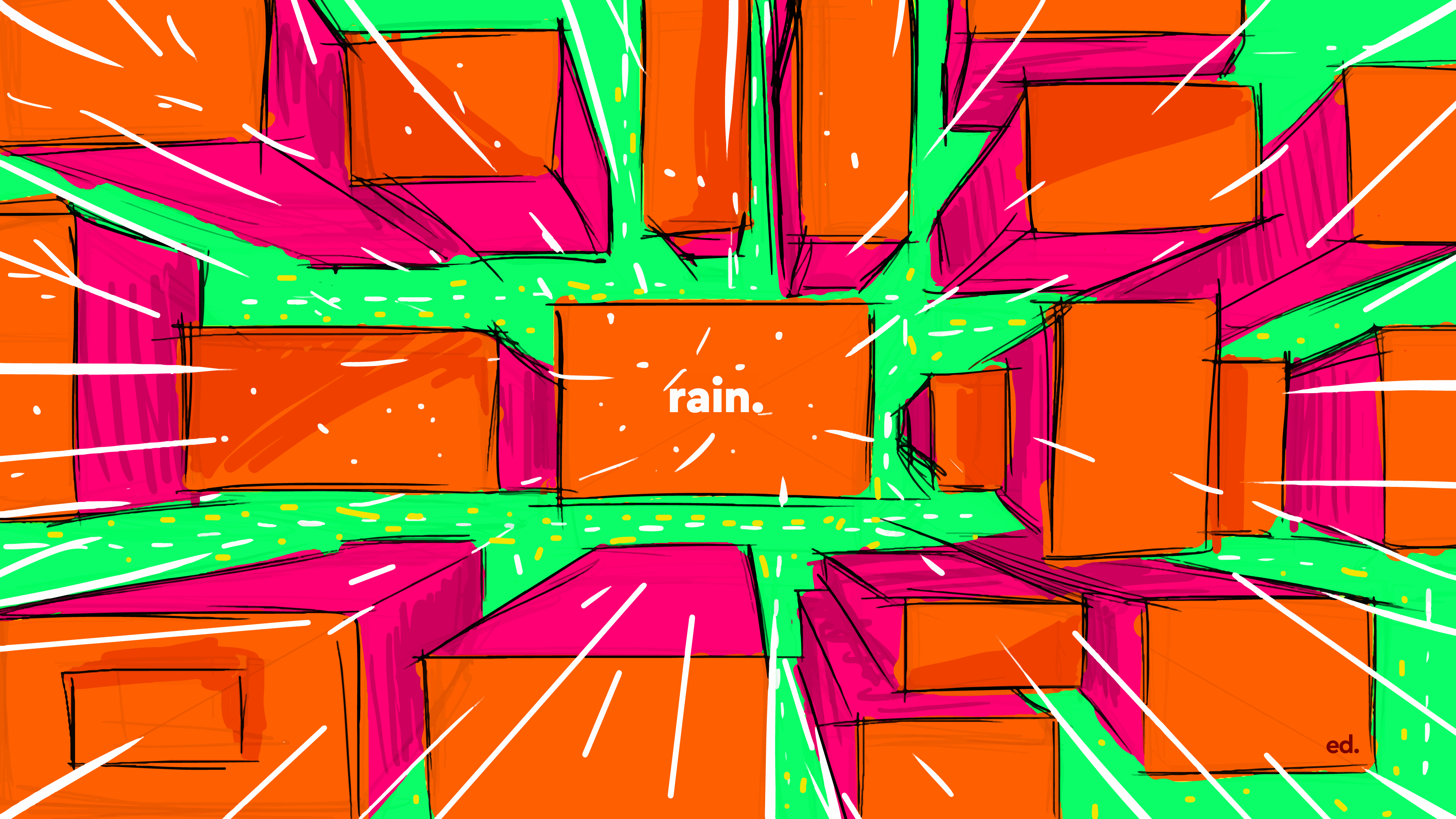 rain by ed