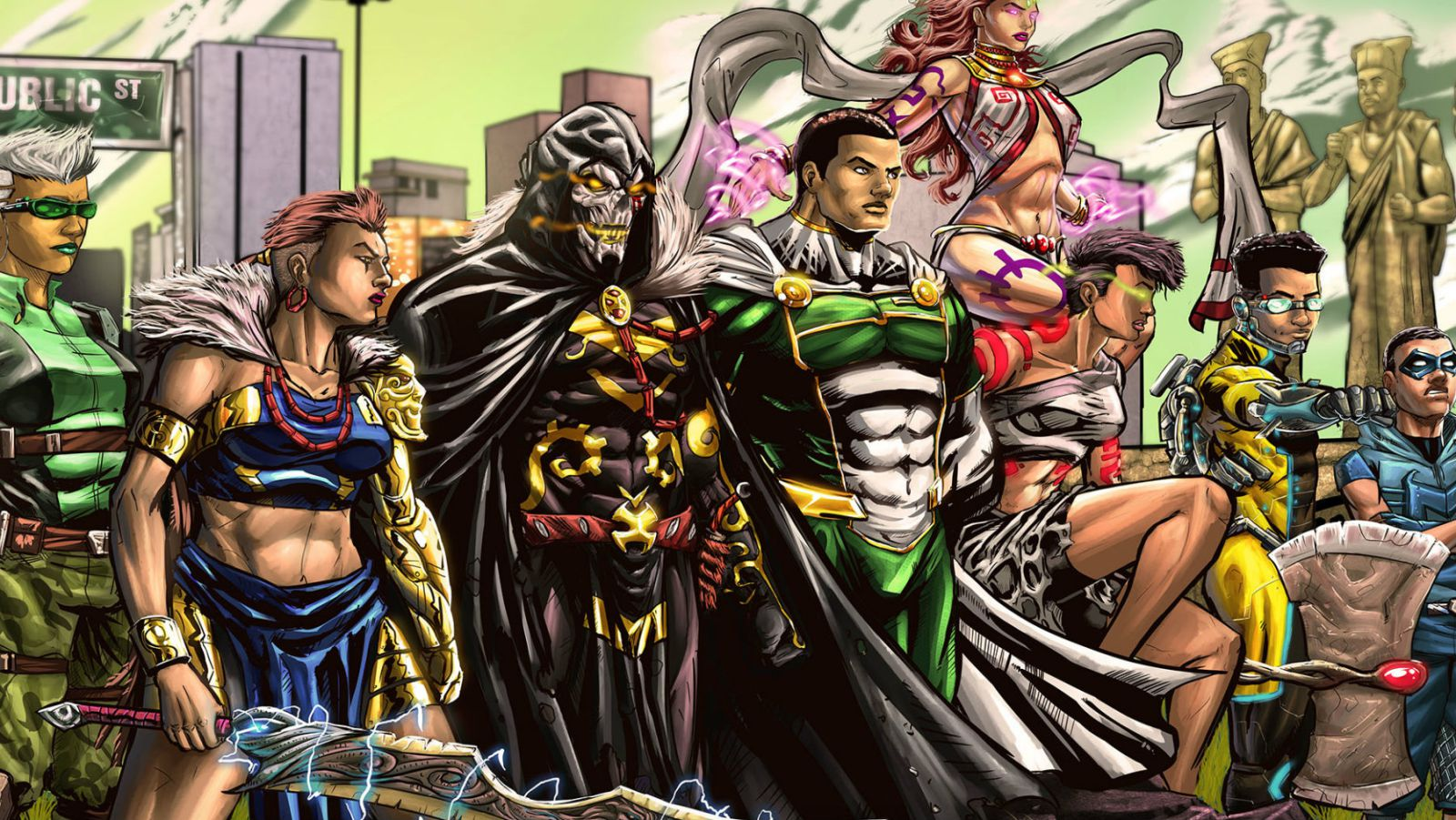 Comic Republic Universe characters, featuring some of the most well known nigerian comics