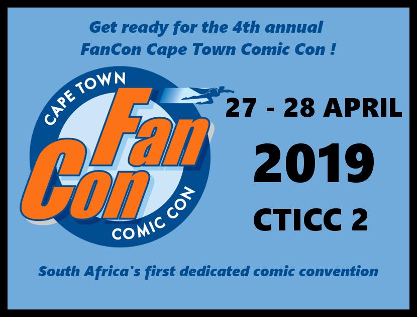 Fan Con Cape Town 2019 flyer