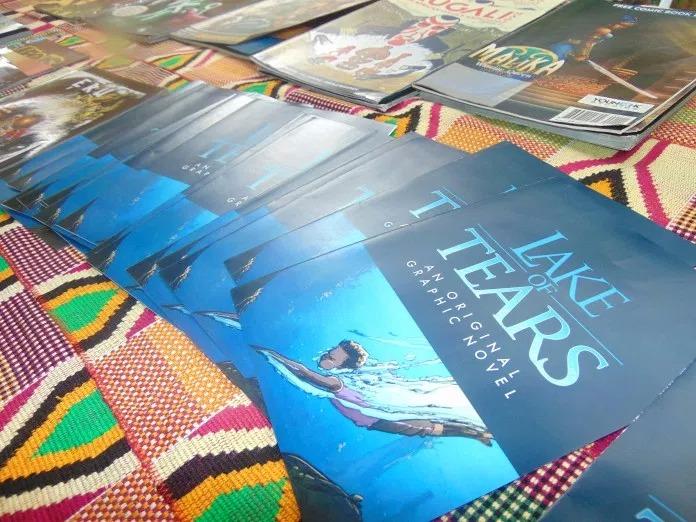 Lake of Tears brochures at Pa Gya Literary Festival Accra