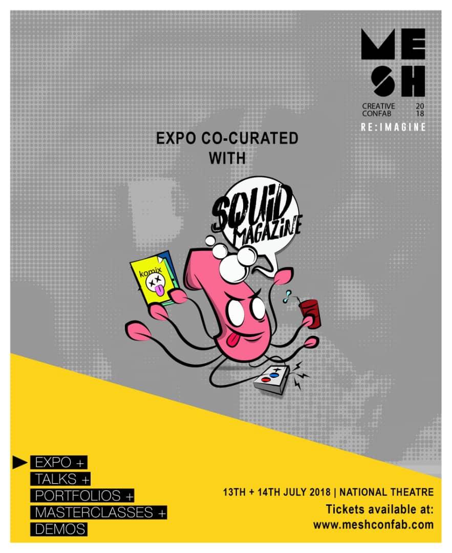 MESH Confab 2018 Squid Mag artist alley