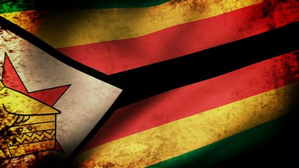 Zimbabwe Flag Grunge
