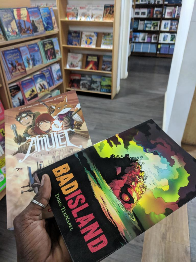 Bad Island Amulet comic books for sale at SyTris Bookshop, Accra
