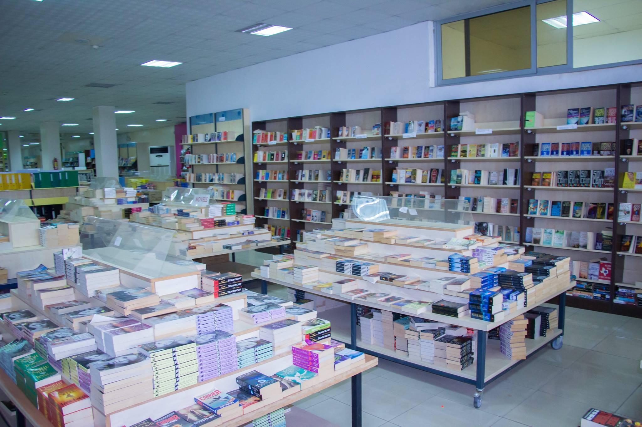 interior of EPP Book Shop in Acra.