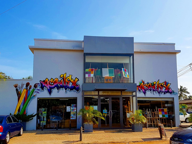 Acilex Art supply store in Osu, Ghana.