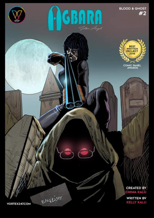 Agbara Issue 2 Cover Blood and Ghost