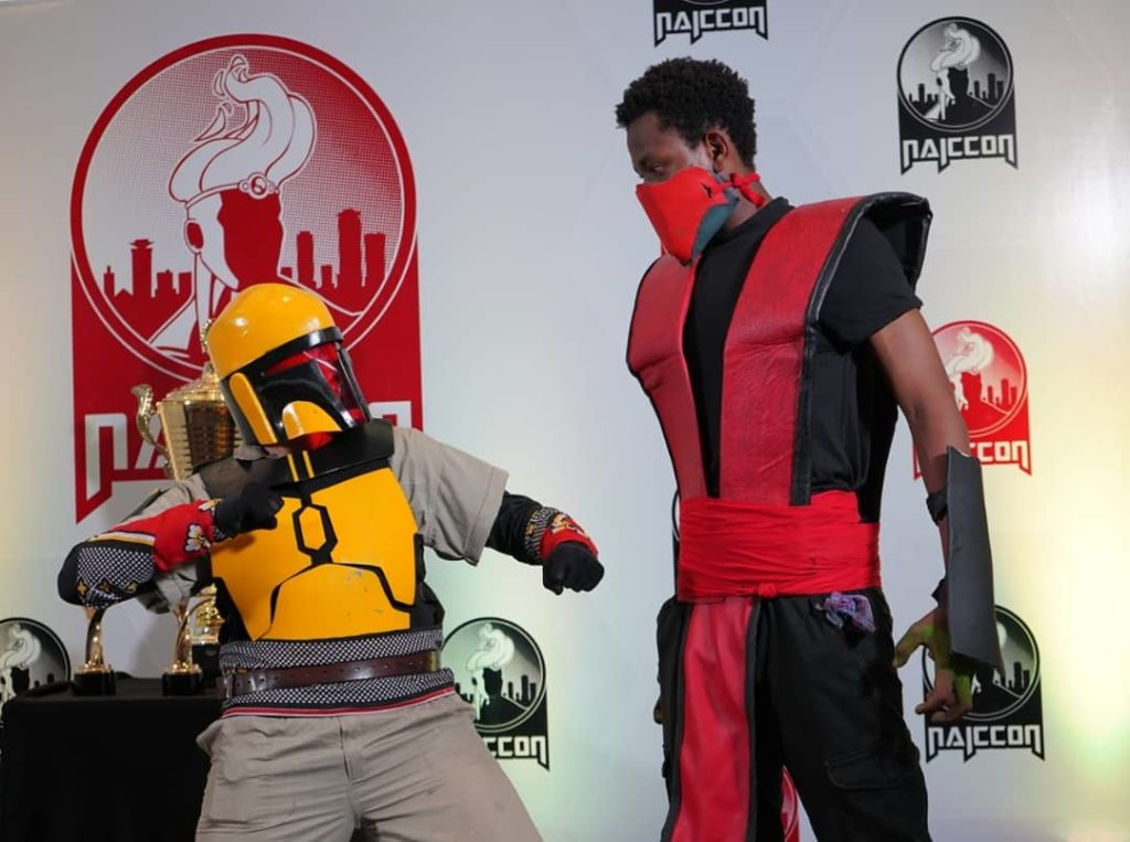 Bobba Fett and Ermac cosplay at Nairobi Comic-Con 2019