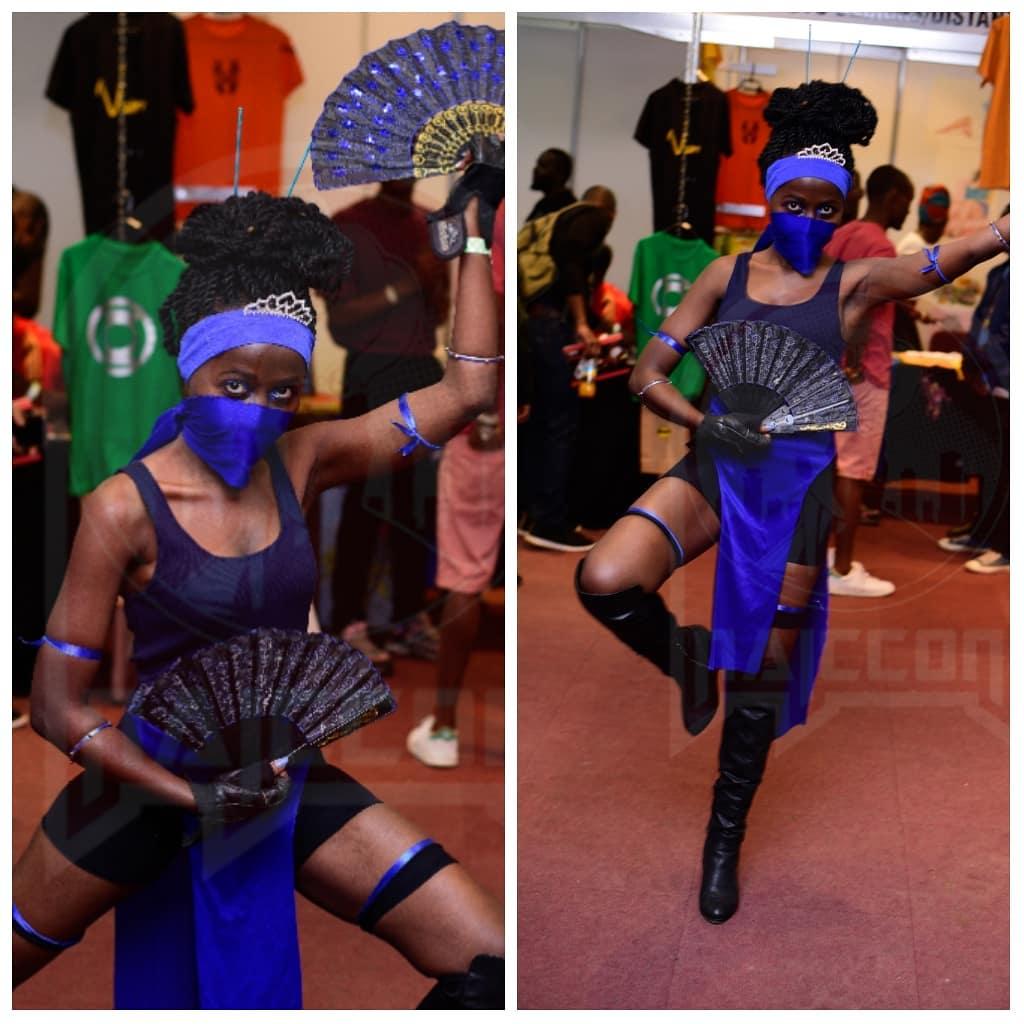 Kitana cosplay at Nairobi Comic-Con 2019