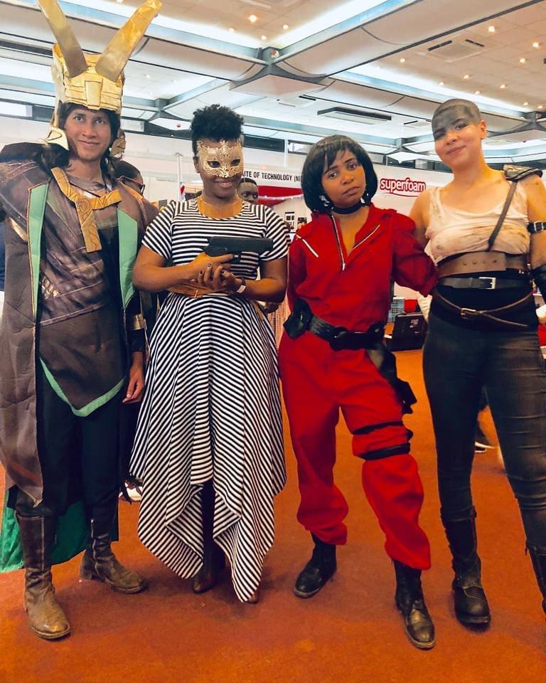 Loki, Tokyo and Furiosa cosplay at Nairobi Comic-Con 2019