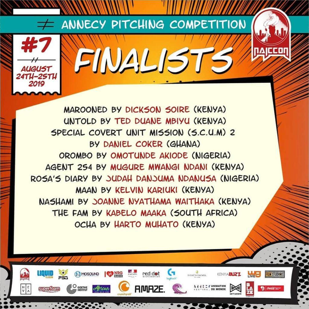 NAICCON Animation Du Monde Finalists