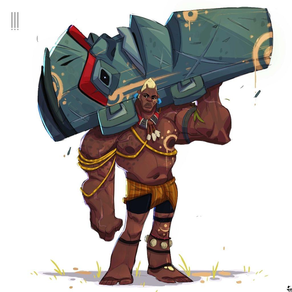 Ntima character design by Simangaliso Sibaya Panda Exlamated