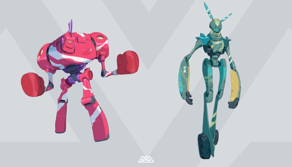 illustration of 2 robots by Alfred Achiampong