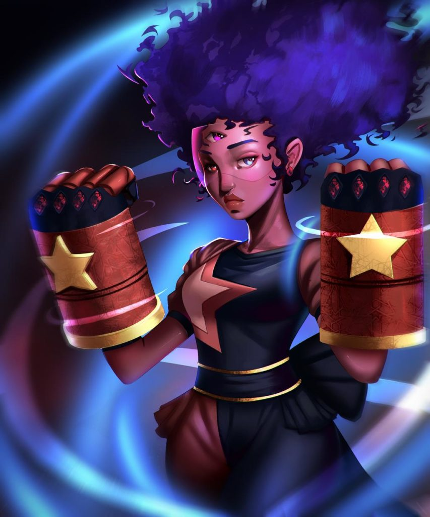 Garnet (Steven Universe) fan art by Venus Bambisa