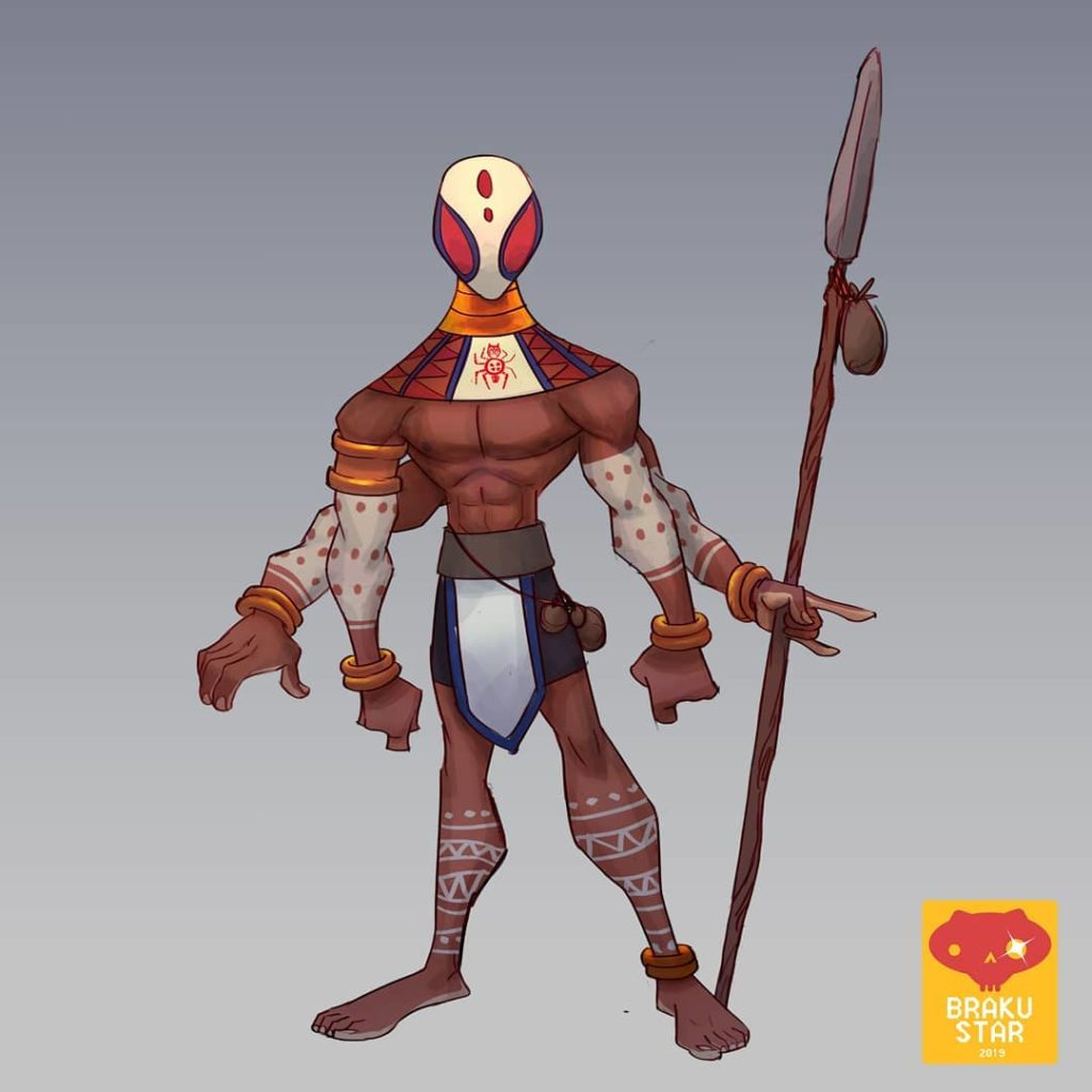 Anansi the Ancent Spider God character design by Kofi Ofosu