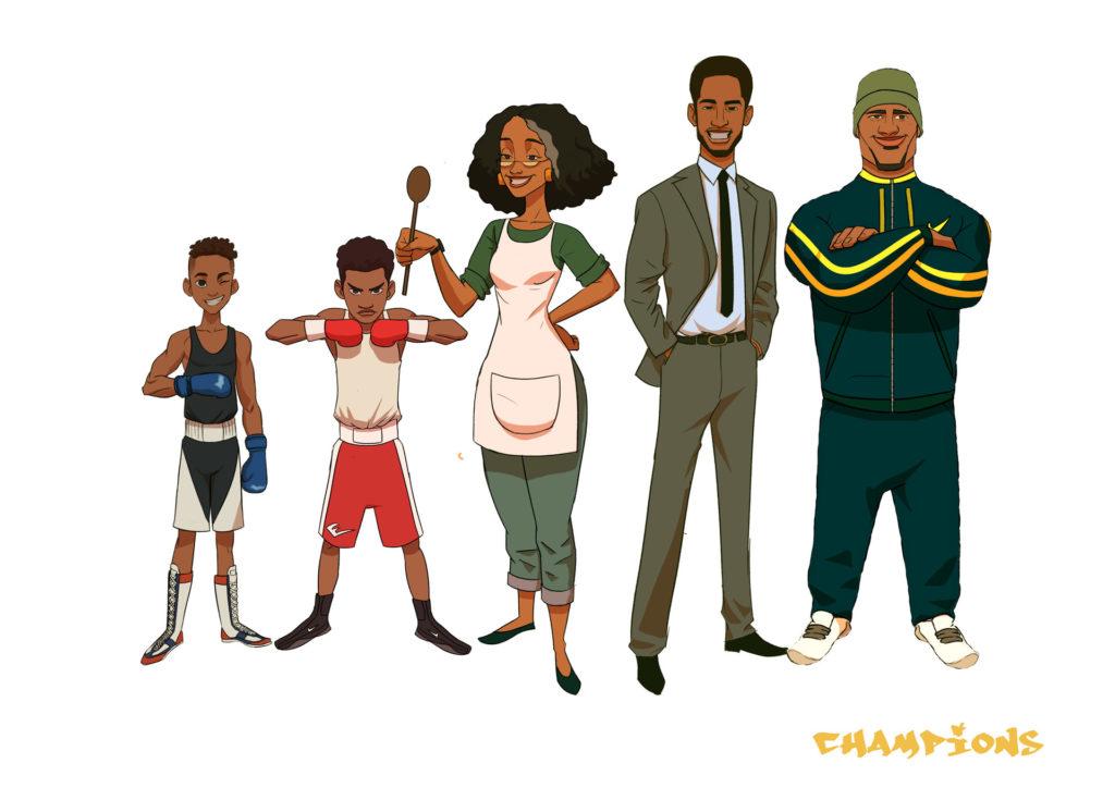 Champions character line up by Kofi Ofosu