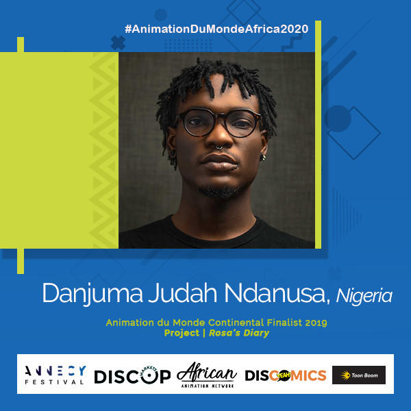 Danjuma Judah Ndanusa Animation du Monde 2020 finalist