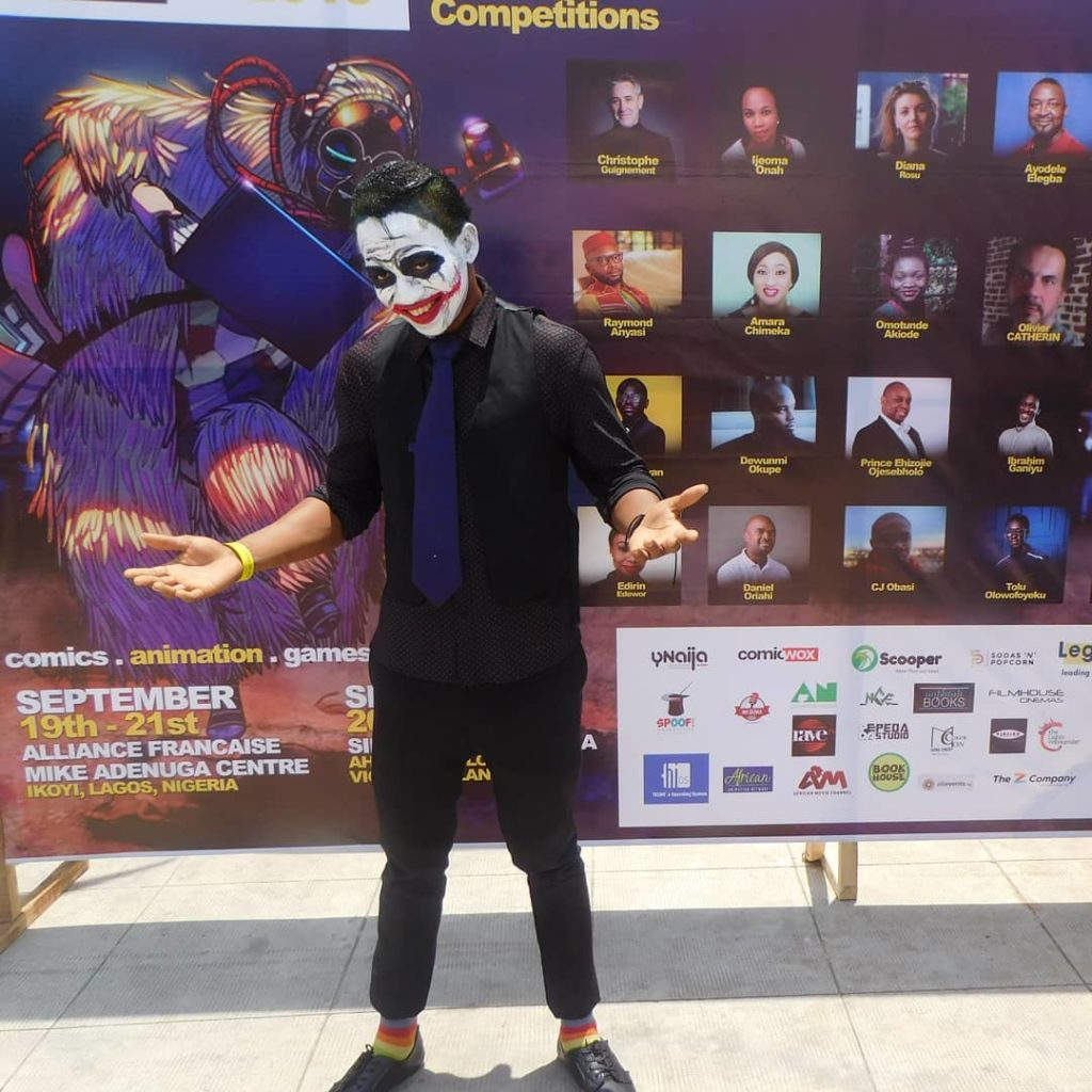 Joker cosplay at Fearless Lagos Comic Convention