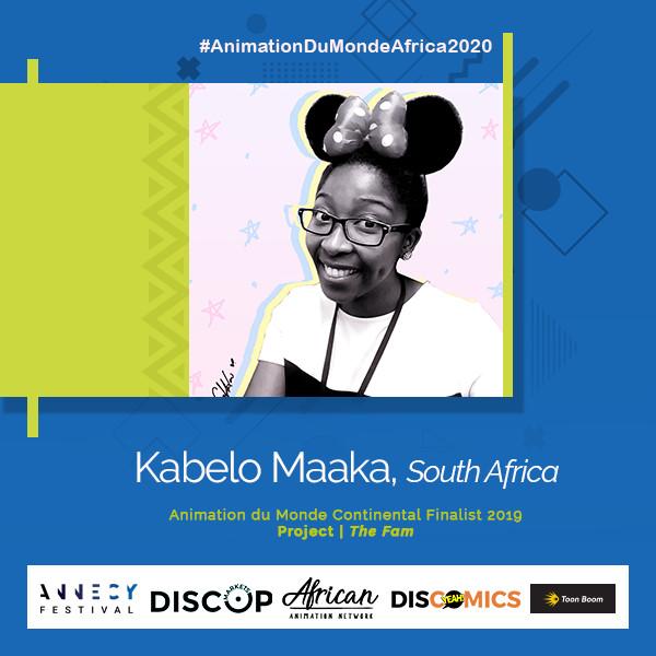 Kabelo Maaka Animation du Monde 2020 finalist