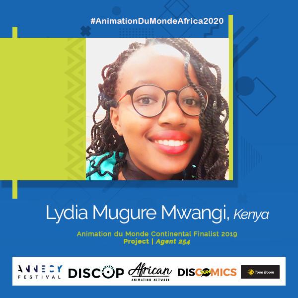 Lydia Mugure Mwangi Animation du Monde 2020 finalist