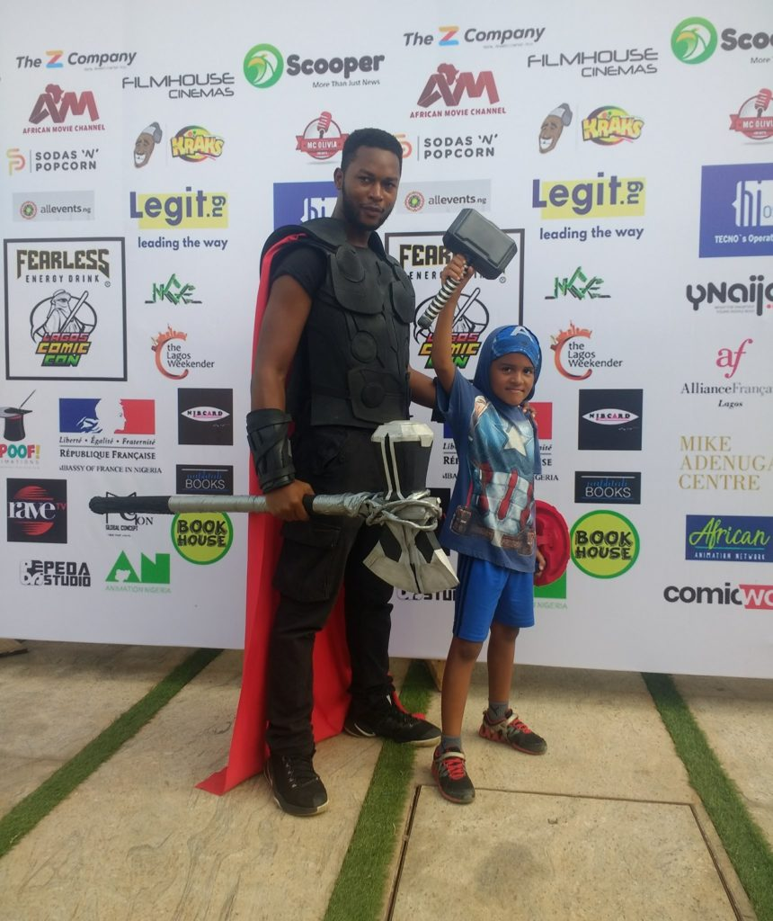 Thor and Captain America cosplay at Lagos Comic-Con 2019