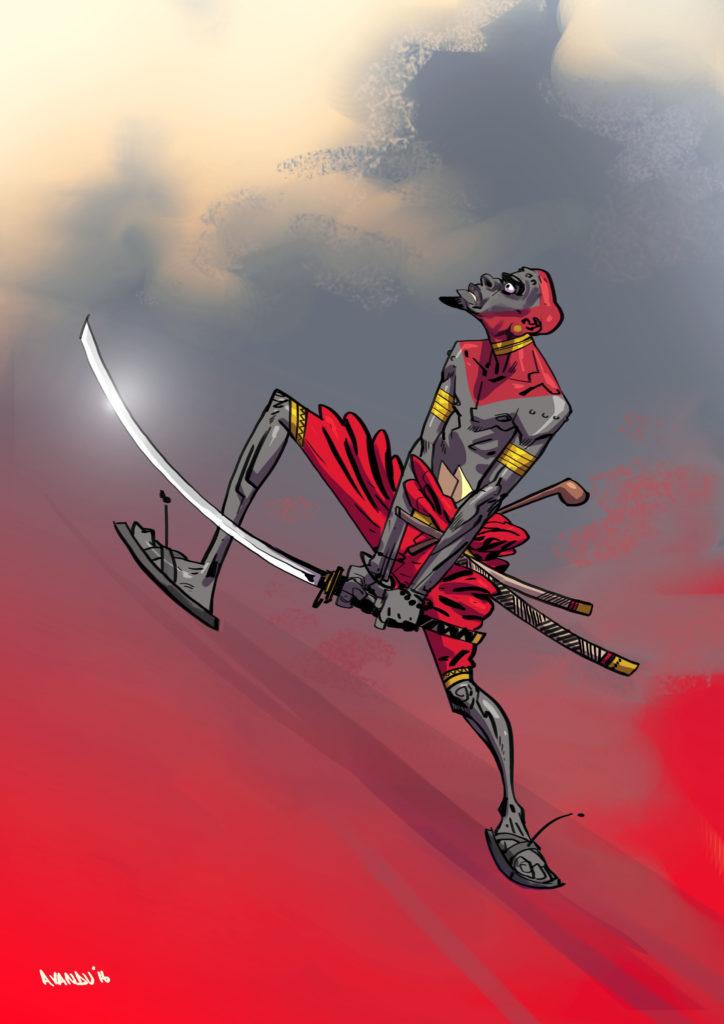 Maasai Samurai by Salim Busuru